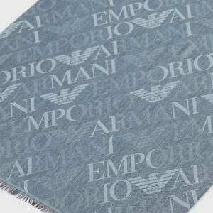 Emporio Armani sciarpa logo all over