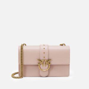 pinko borsa tracolla love classic icon simply rosa cipria